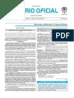 Diario oficial de Colombia n° 49.811. 10 de marzo de 2016