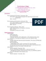 curriculum vitae website