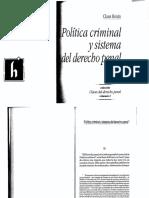 1 Política Criminal y Sistema Del Derecho Penal - Roxin (2)