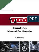 Manual de Propietario X Motion