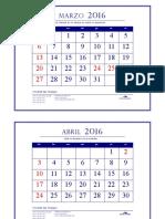 calendariio 2016