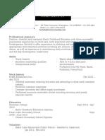 ferlisha fletcher resume