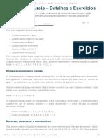 Números Naturais - Detalhes e Exercícios - Matemática - Colégio Web