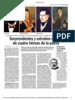 Datos Curiosos de Héroes de La Patria Noticia de Las Ultimas Noticias