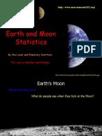 Earth and Moon Statistics