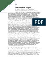 Tax Memorandum Project