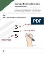 Cómo Simplificar Una Fracción Impropia