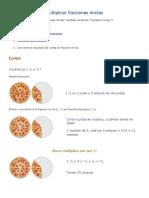 Multiplicar fracciones mixtas