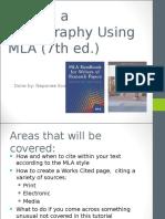 Writing a Bibliography Using MLA (7th Ed.)