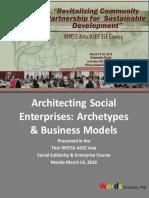 Architecting Social Enterprises
