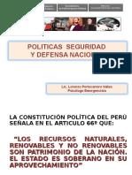 Politicas de Seguridad y Defensa Nacional