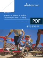 Literature Review in Mobile Technologies and Learning