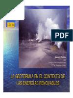 La Geotermia en El Contexto de Las Energías Renovables