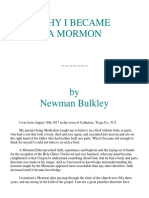 Newman Bulkley - Why I Became a Mormon (1870)