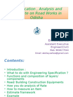 Analysis, Specification and Estimate on Road Works.ppt