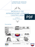 Modulo Lengua Castellana Corregido Grado Primero VIVIANA GARCIA. (4) Ll Periodo
