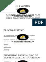 Hechos y Actos Jurídicos
