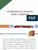 Construcción de Una Perspectiva Teórica o Referencial