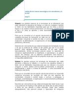 Trahtemberg, León. El Impacto Previsible de Las Nuevas Tecnologías en La Enseñanza y La Organización Escolar1