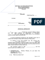 Sample Judicial Affidavit of Psychiatris