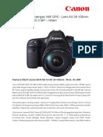 Brochure - Canon 6D