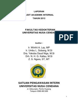 Contoh Laporan Audit Internal