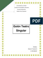Guion Teatral singular