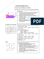 Geometri Dimensi Tiga
