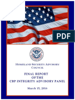 Task force report on CBP misconduct & corruption