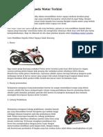 Tips Modifikasi Sepeda Motor Terkini
