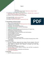 Geology Syllabus for Main Examination
