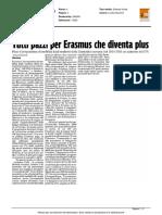 Tutti pazzi per Erasmus che diventa Plus - Il Corriere Adriatico dell'11 marzo 2016