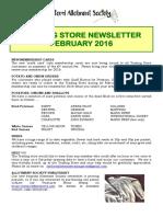 newsletter feb 2016