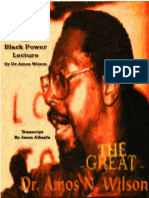 Blueprint for Blackpower Lecture by Dr Amos Wilson