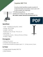 Brochure - Ningbo Bracket Proyektor NB T718