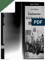 Dahlhaus, Carl - Fundamentos de La Historia de La Musica
