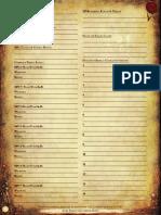 Dark Heresy Encounter Sheet