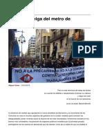 Sinpermiso-sobre La Huelga Del Metro de Barcelona-2016!03!14