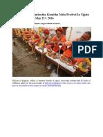The Legendary Simhastha Kumbha Mela Festival in Ujjain From April 22nd