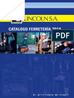 Catalogo Lincoln Ferreteria 2016