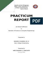 Practicum Report Ojt