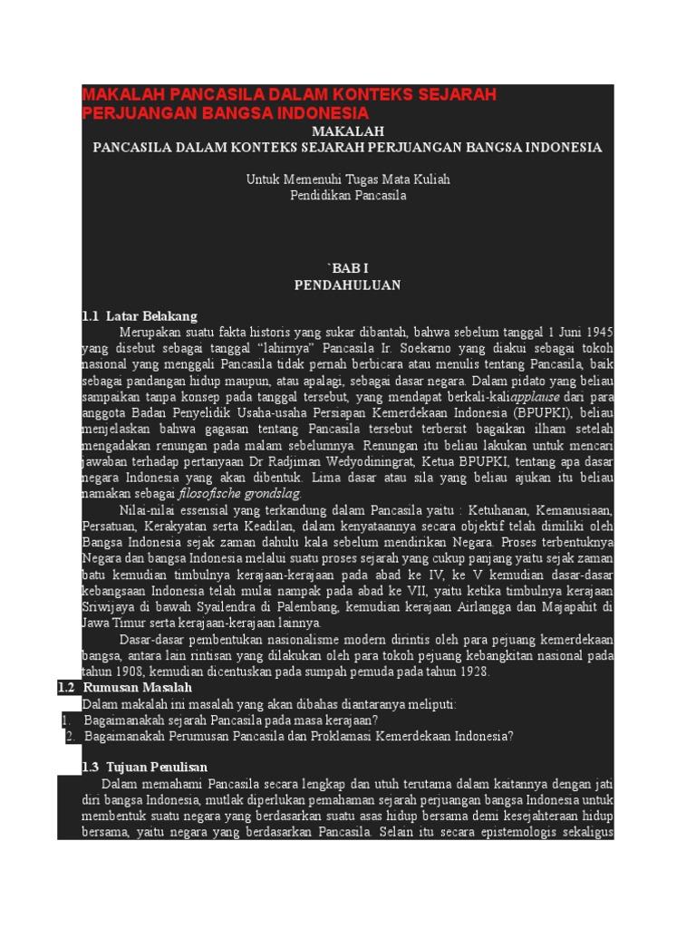 Makalah Pancasila Dalam Konteks Sejarah Perjuangan Bangsa Indonesia 3 Docx