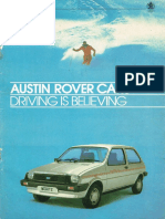 Austin Rover Cars Jan Apr 1984 Brochure