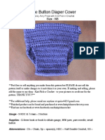 Side Button Diaper crochet