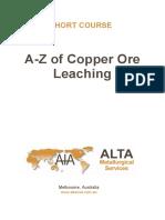 leaching of Copper