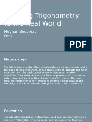 trig project | Weather Forecasting | Meteorology