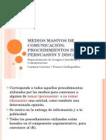 6 Medios Masivos de Comunicacion Procedimientos de Persuasion y Disuasion