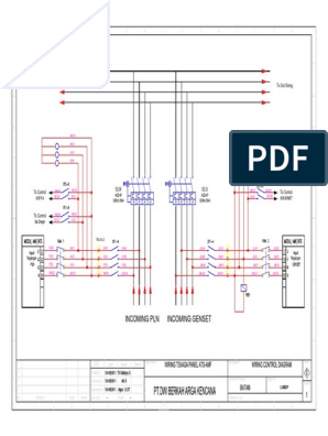wiring tenaga panel ats amf Instrument Panel Wiring Diagram