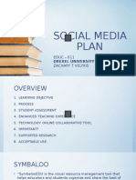 social media plan - velykis