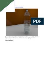Material Botol Plastik Transparan